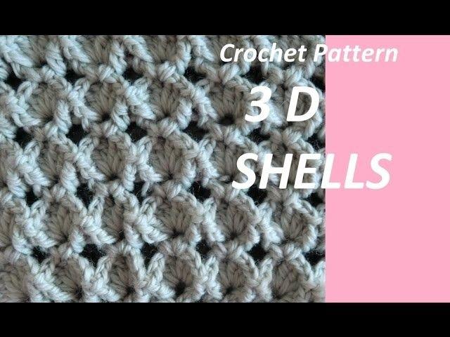 Crochet Pattern 3d Shells Crochet Patterns Crochet Crochet Stitches Video