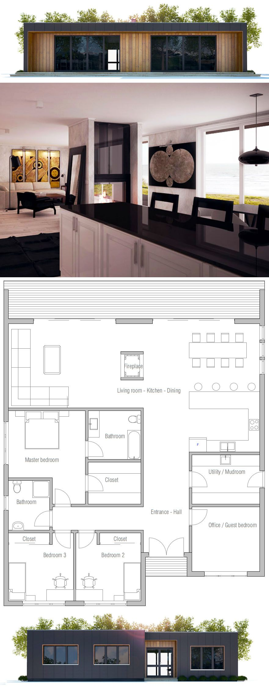 Modern Minimalist Home Plan Affordable Home Plan Modern House