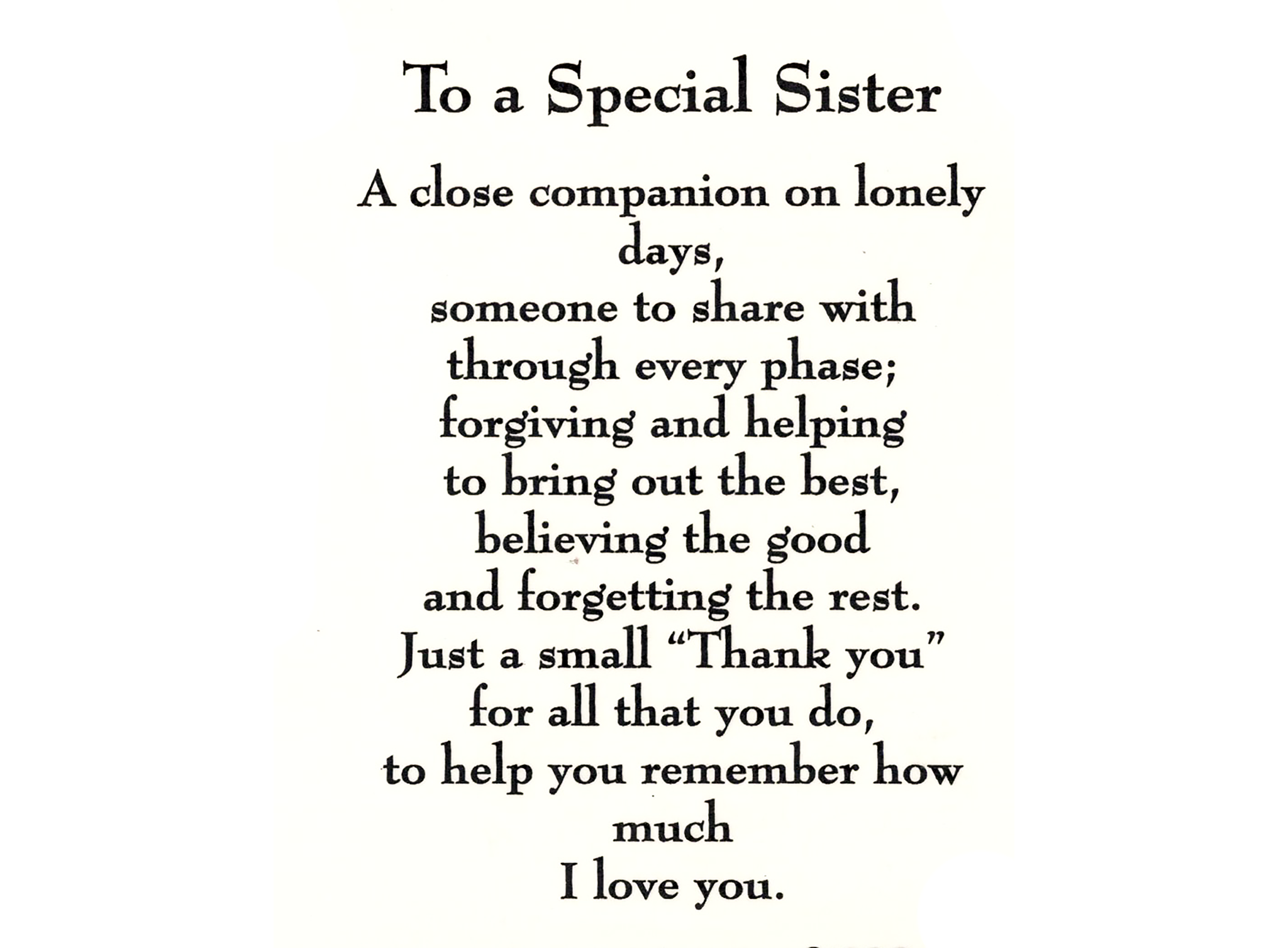 Sister Quotes: Sister Poem, Poem And Qoutes