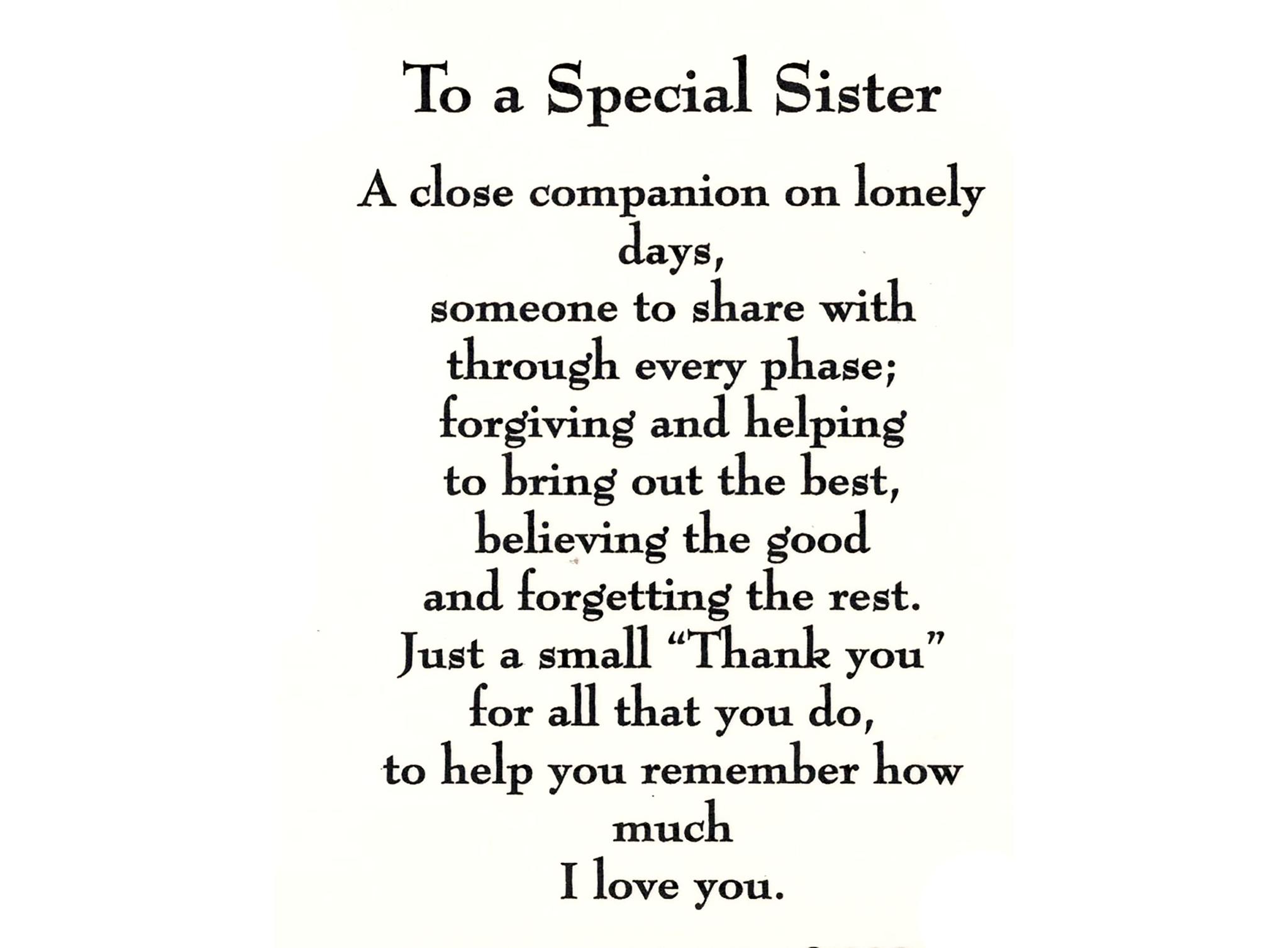 Older Sister Birthday Card Funny Birthday Card Joke Card