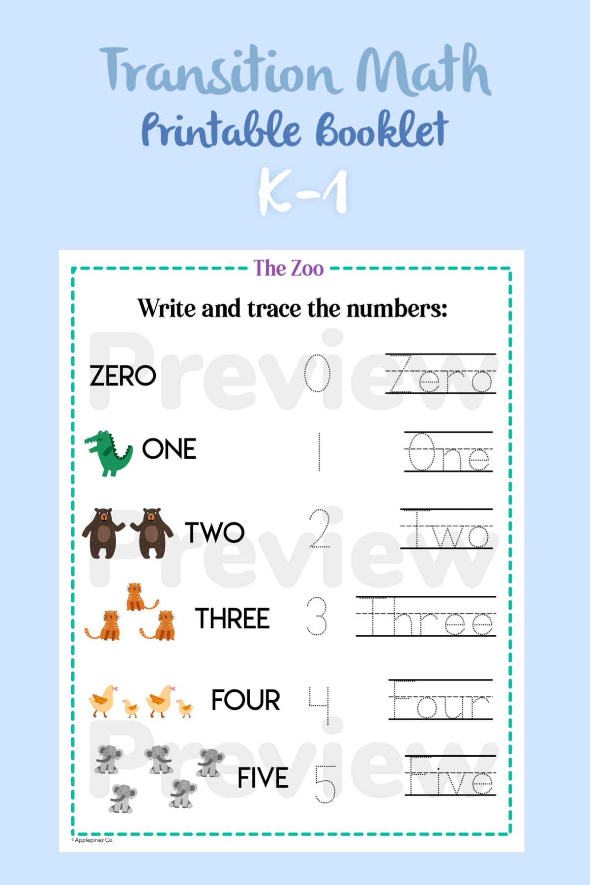 Do You Know The Zoo Transition Math Worksheets Printable Booklet Math Math Printables Printable Certificates [ 1800 x 1200 Pixel ]