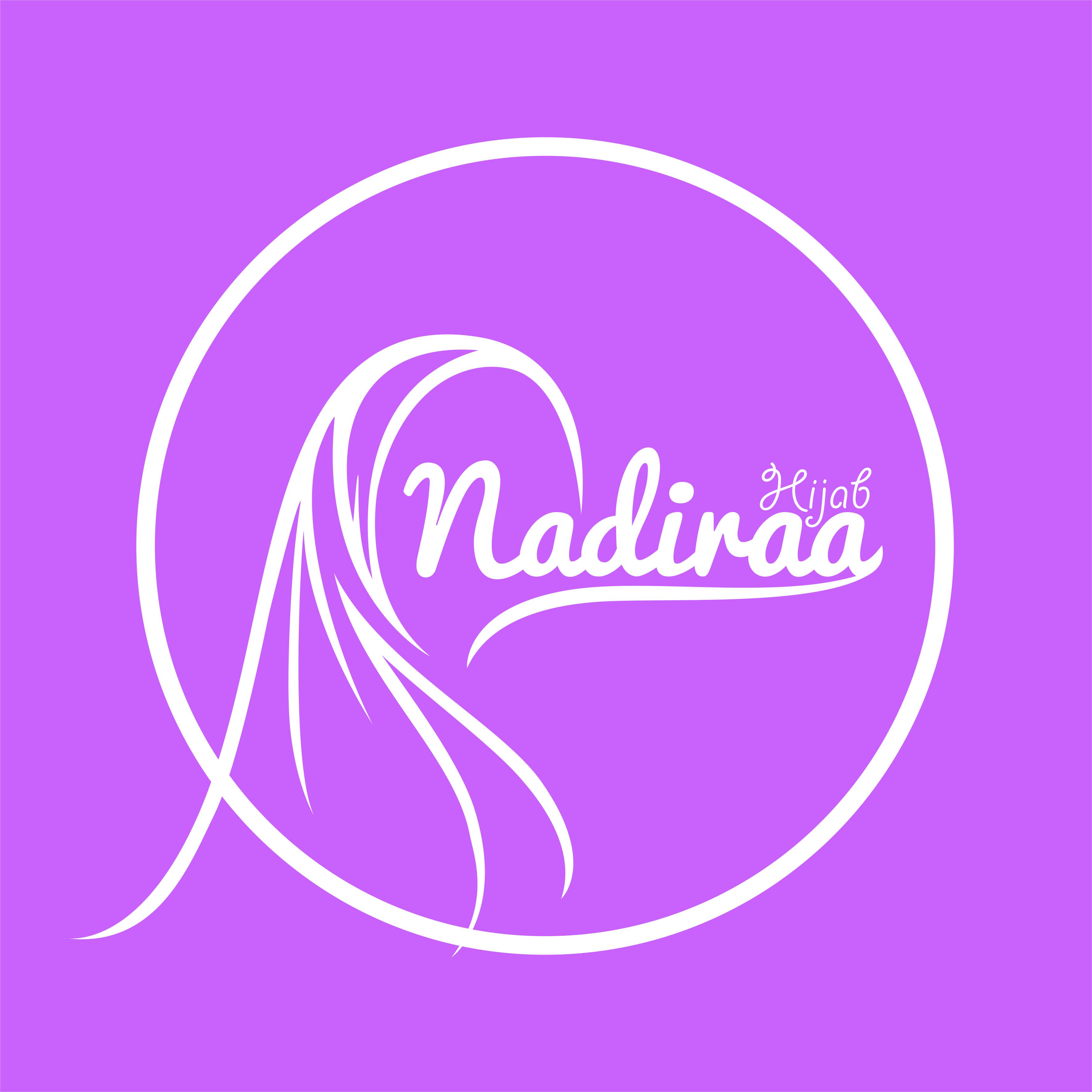 Nadiraa Hijab Logo Artwork By: Yogatama Yalesena  Desain logo