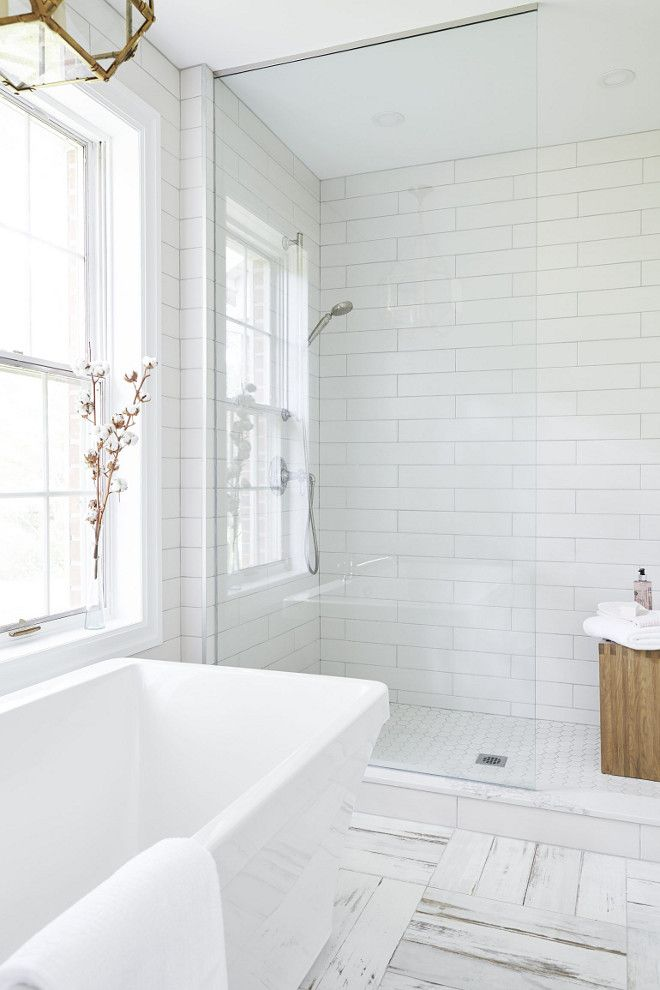 Large Subway Tile Shower Ideas Bathroom With Large Subway Tile Shower Large Subway Tile Shower White Bathroom Tiles Bathroom Tile Designs White Tile Shower