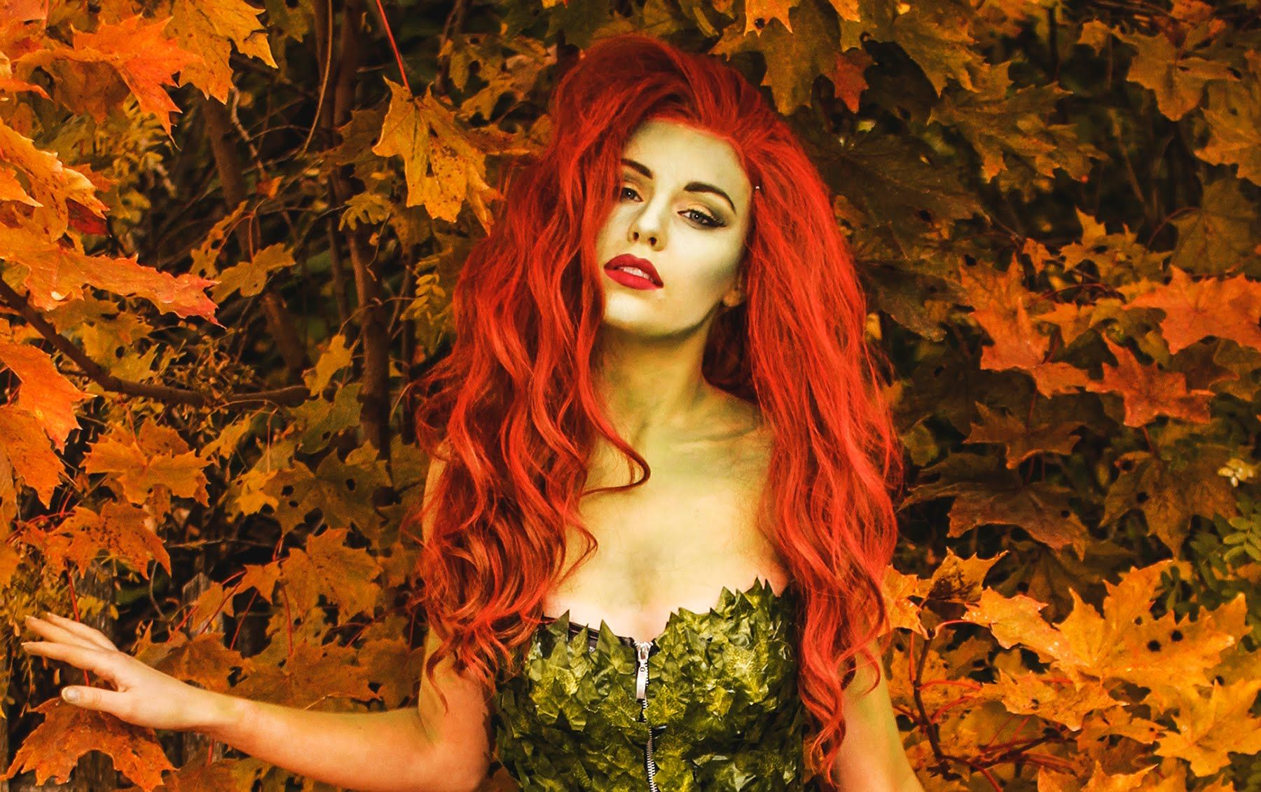 Poison Ivy Makeup & Costume tutorial Ivy costume