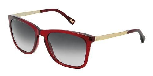 Dolce   Gabbana Eyewear  modelo DD 3081 - Colección de gafas de sol de  mujer. Montura cuadrada de color rojo transparente con lentes grises. f982e5470fe1