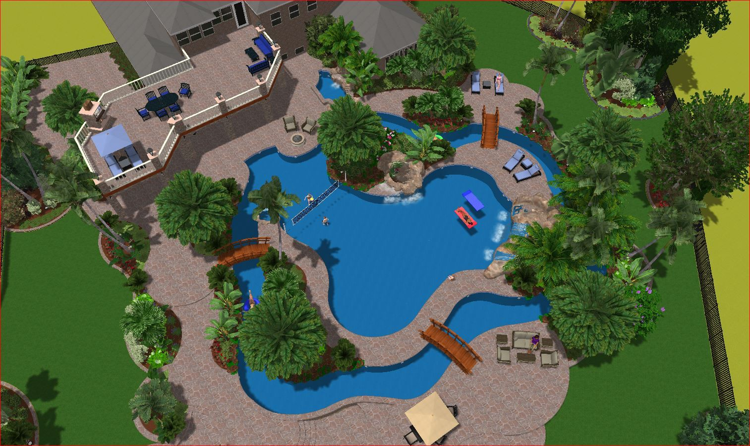 Gentil Home Lazy River Pool   Google Search