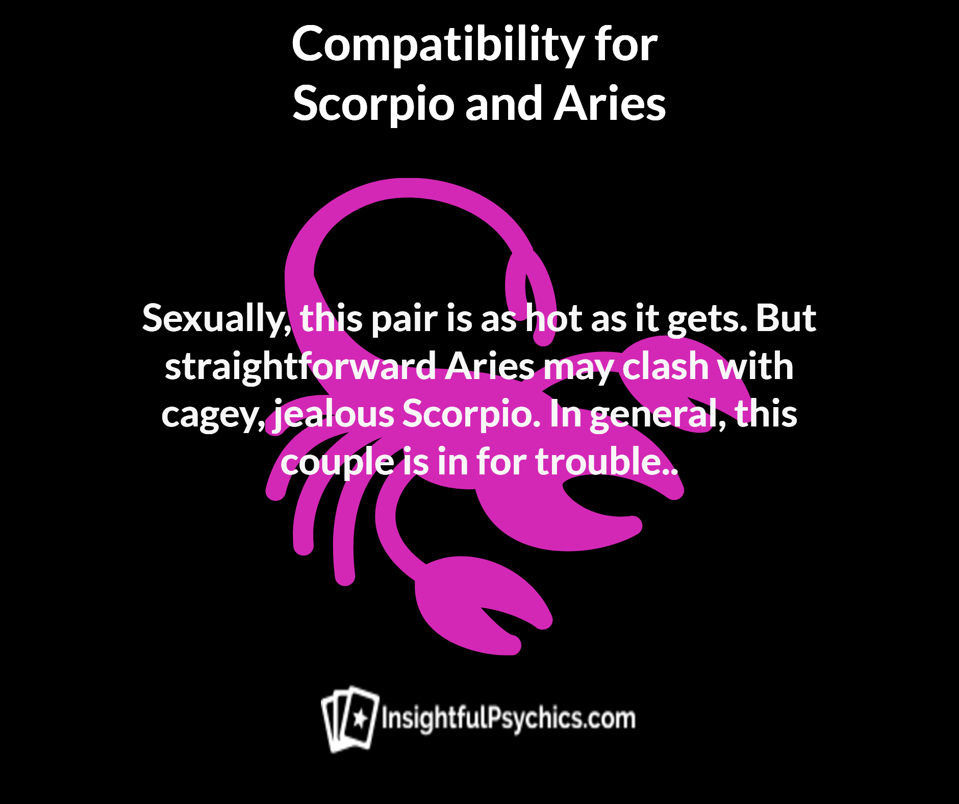 Cancer and scorpio