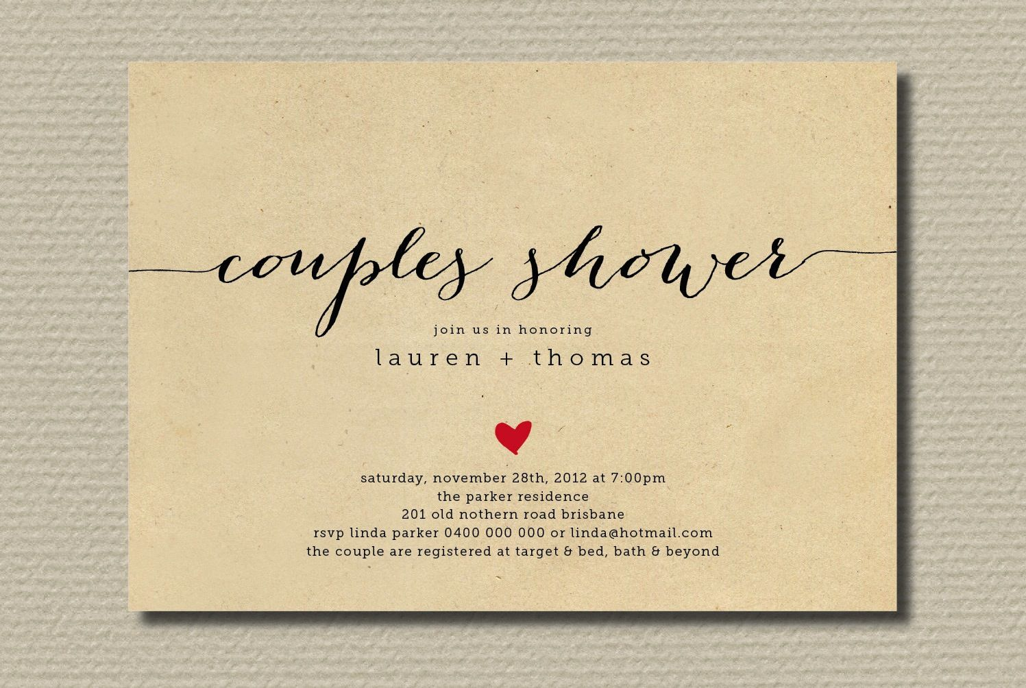 Couples wedding shower invitations simple wedding shower couples wedding shower invitations simple wedding shower invitation couples with heart onewed filmwisefo Image collections