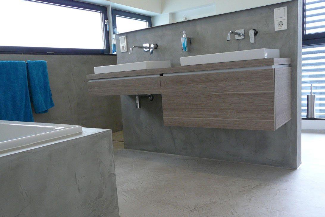 Arbeitsplatte Badezimmer ~ Beton cire für wände böden treppen arbeitsplatten ideas for