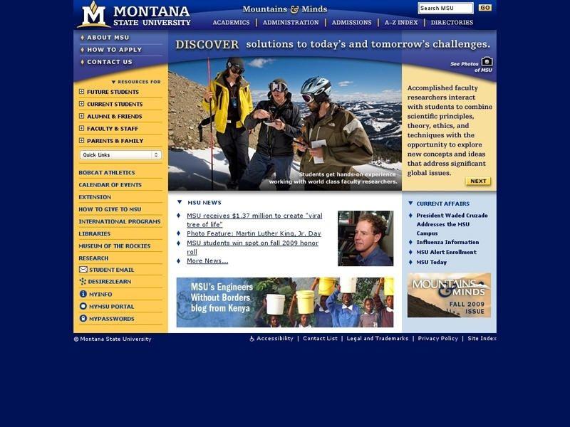 Montana state university bozeman montana state