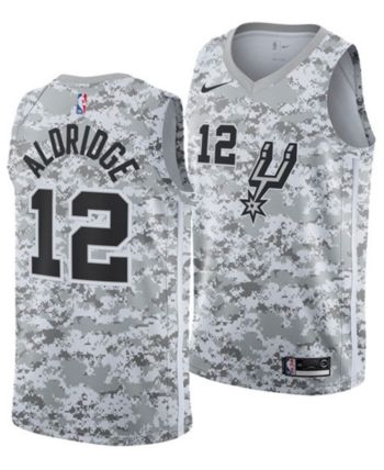 c32a863bacf Nike Men s Lamarcus Aldridge San Antonio Spurs Earned Edition Swingman  Jersey - White XL