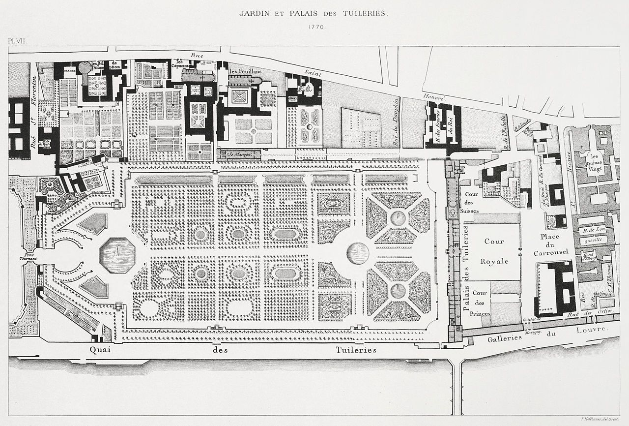 The Jardin Des Tuileries And The Palais Des Tuileries In 1770