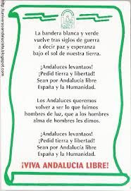 la bandera blanca y verde letra