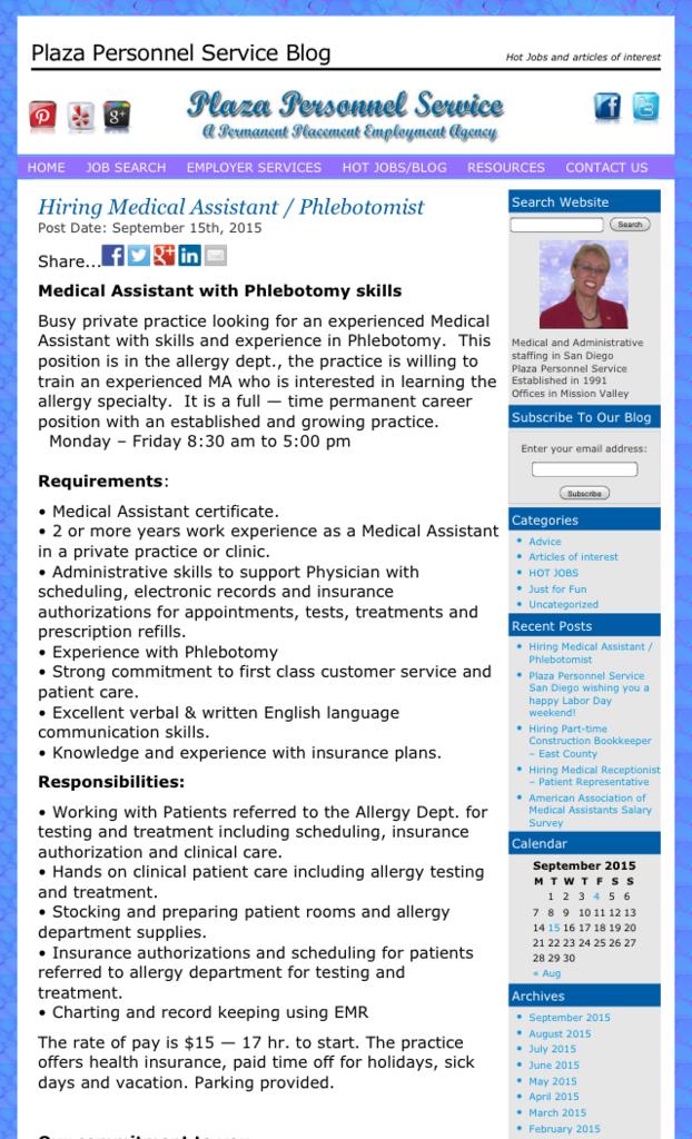 medical assistants