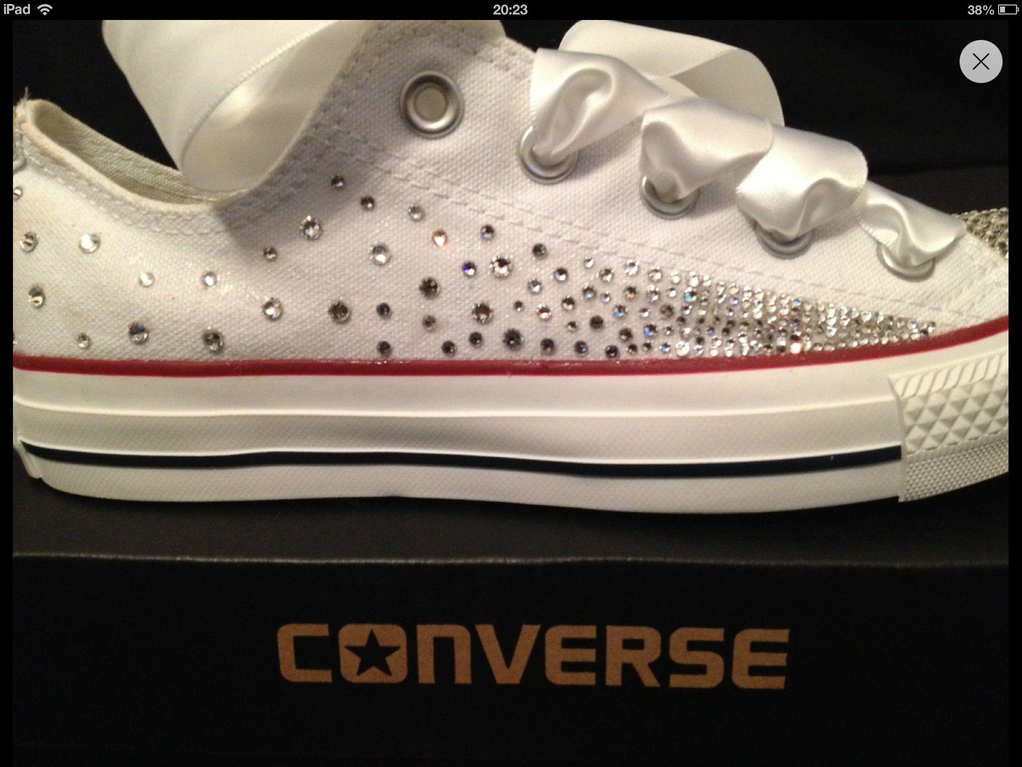 f408d0ef5dc9 Designer Shoes · Swarovski crystal converse!