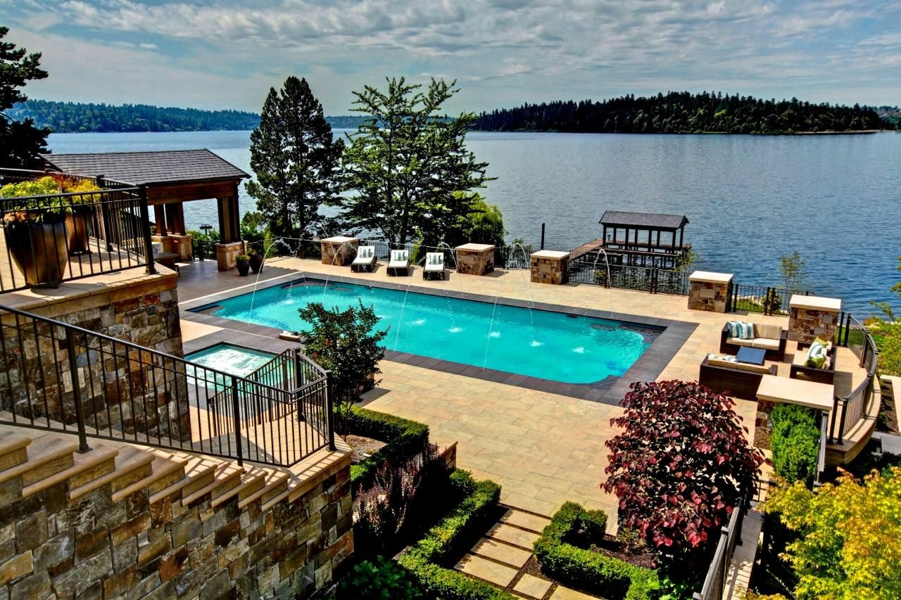 Mercer island luxury waterfront estate idesignarch interior design - Mercer Island Estate Wa Houses And Designs Pinterest Home