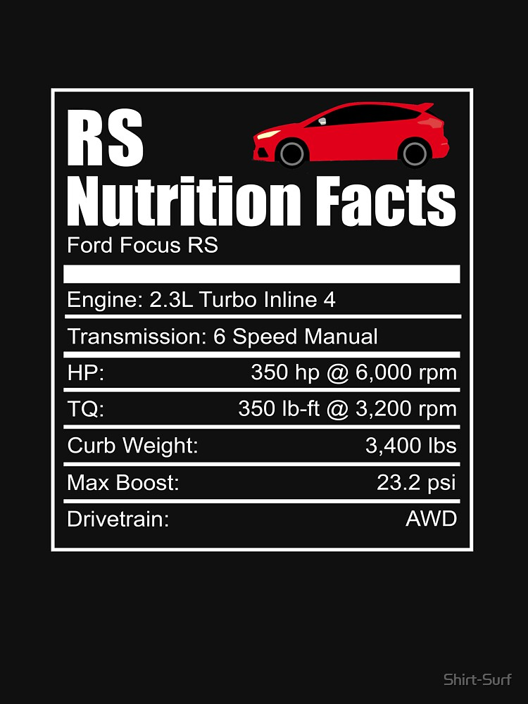 Ford Focus Rs Nutrition Facts Focus Rs Wrc Rally Turbo Ken Block Essential T Shirt By Shirt Surf Ford Focus Rs Ford Focus Focus Rs