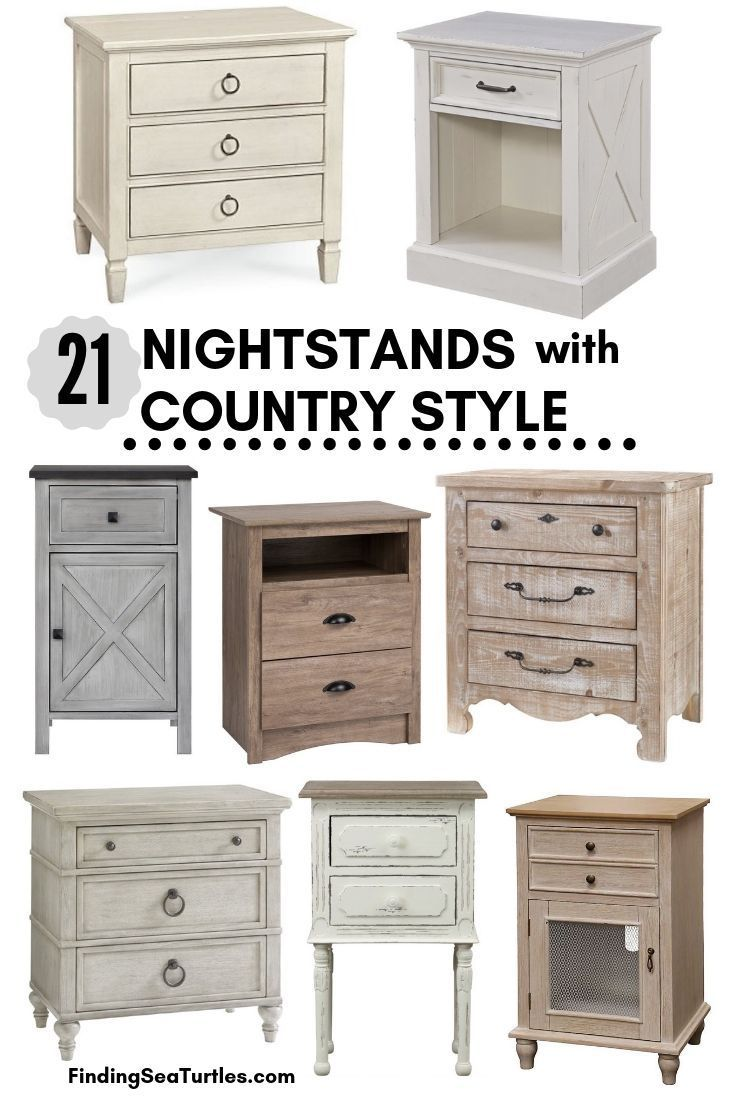 21 farmhouse nightstands for nighttime necessities