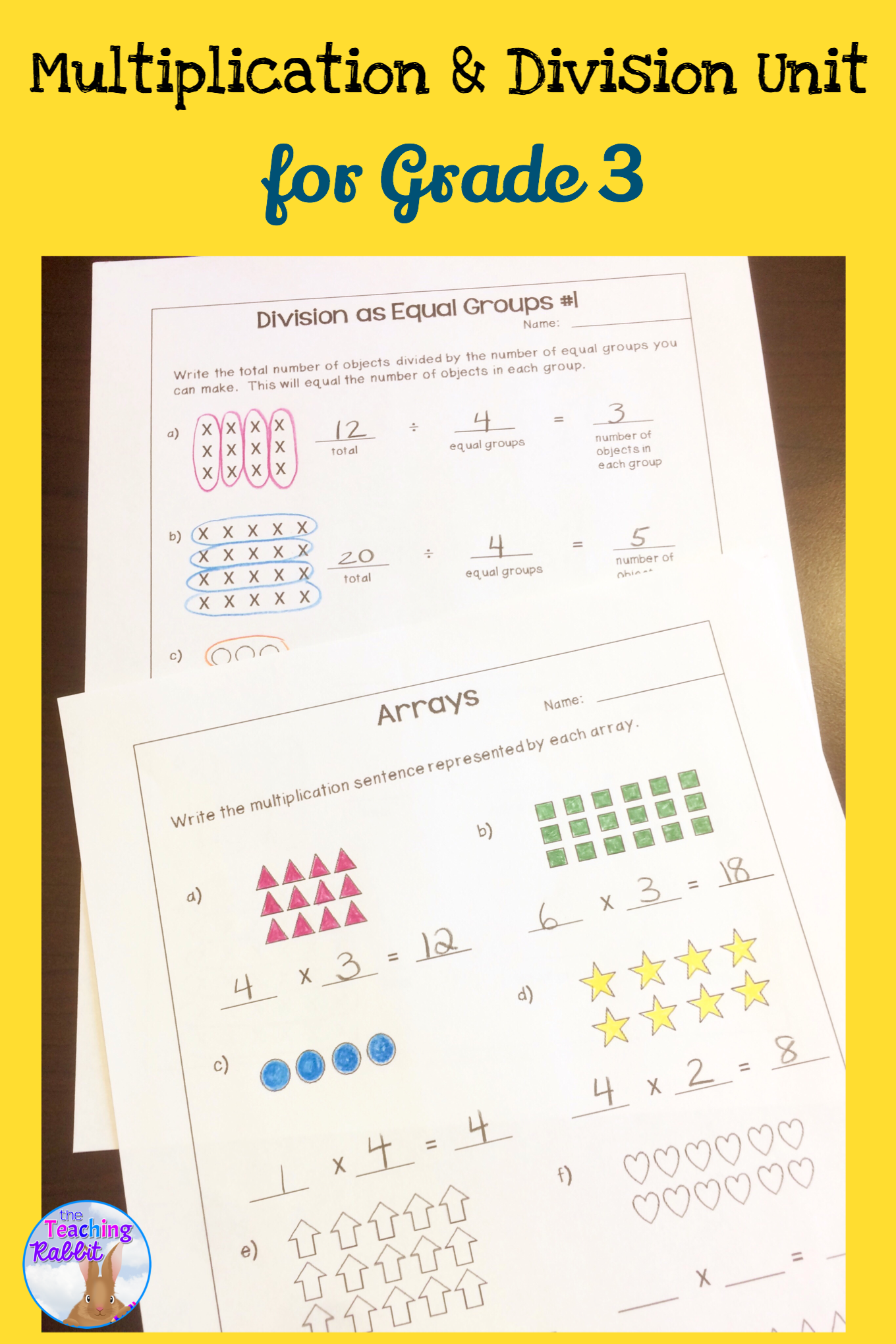 This Multiplication Amp Division Unit For Third Grade