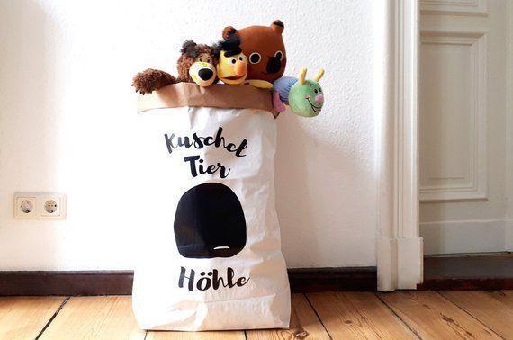 Papiertütenaufbewahrung PAPERBAG Stofftiere, Wäschesack