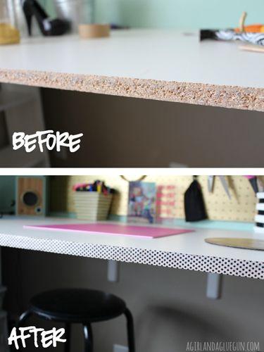 10 Ways to Make a Dorm Room Feel Like Home - Dorm Room DIYs - Good Housekeeping Know where I could use this.