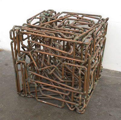 Copper Tubing Art julian wild - copper tube sculpture | cube | pinterest | abstract