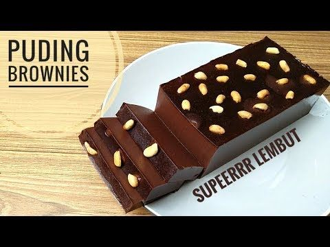 Resep puding brownies super lembut - YouTube | Puding, Resep, Resep kue