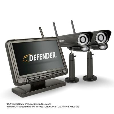 Defender PhoenixM2 Wireless Security System with 7`Monitor DVR /& Night Vision Cameras