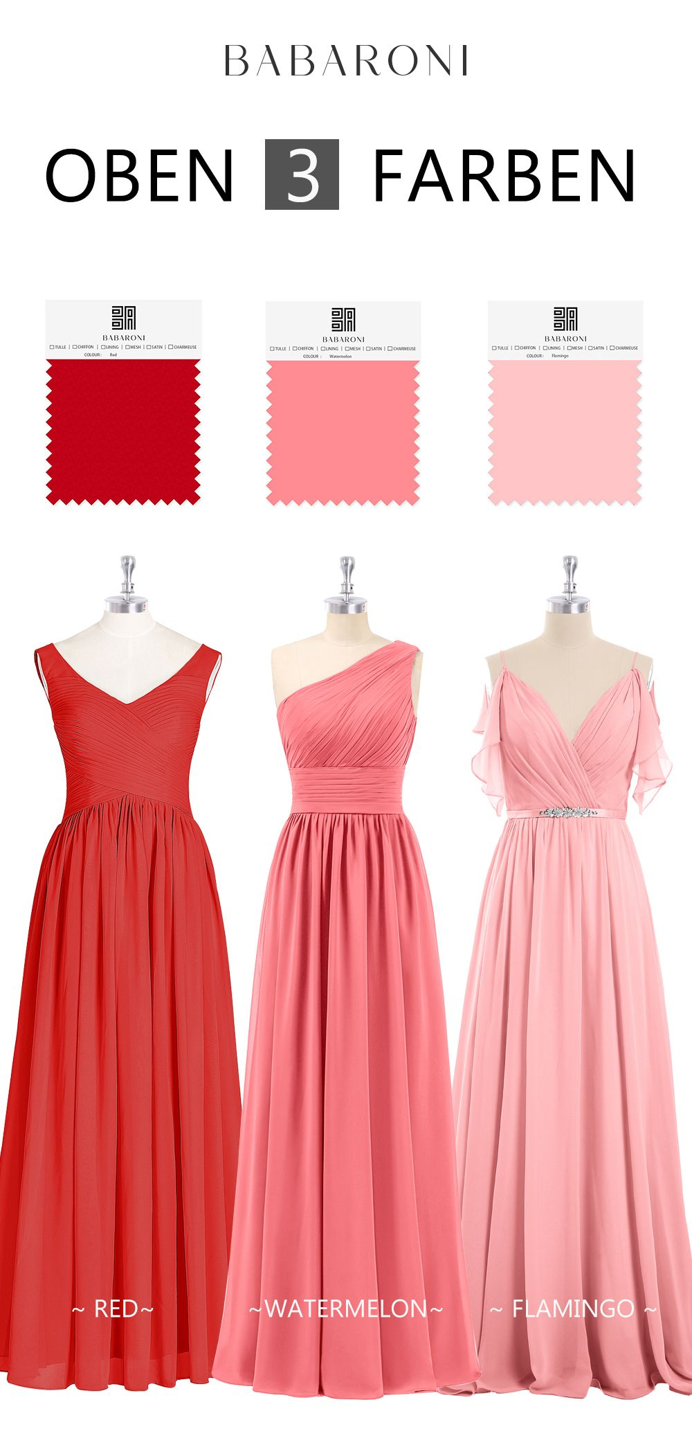 Brautjungfernkleider  Chiffon kleid, Brautjungfernkleid, Günstige