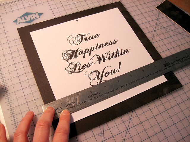 How to Cut Picture Mats by Decor Adventures, via Flickr