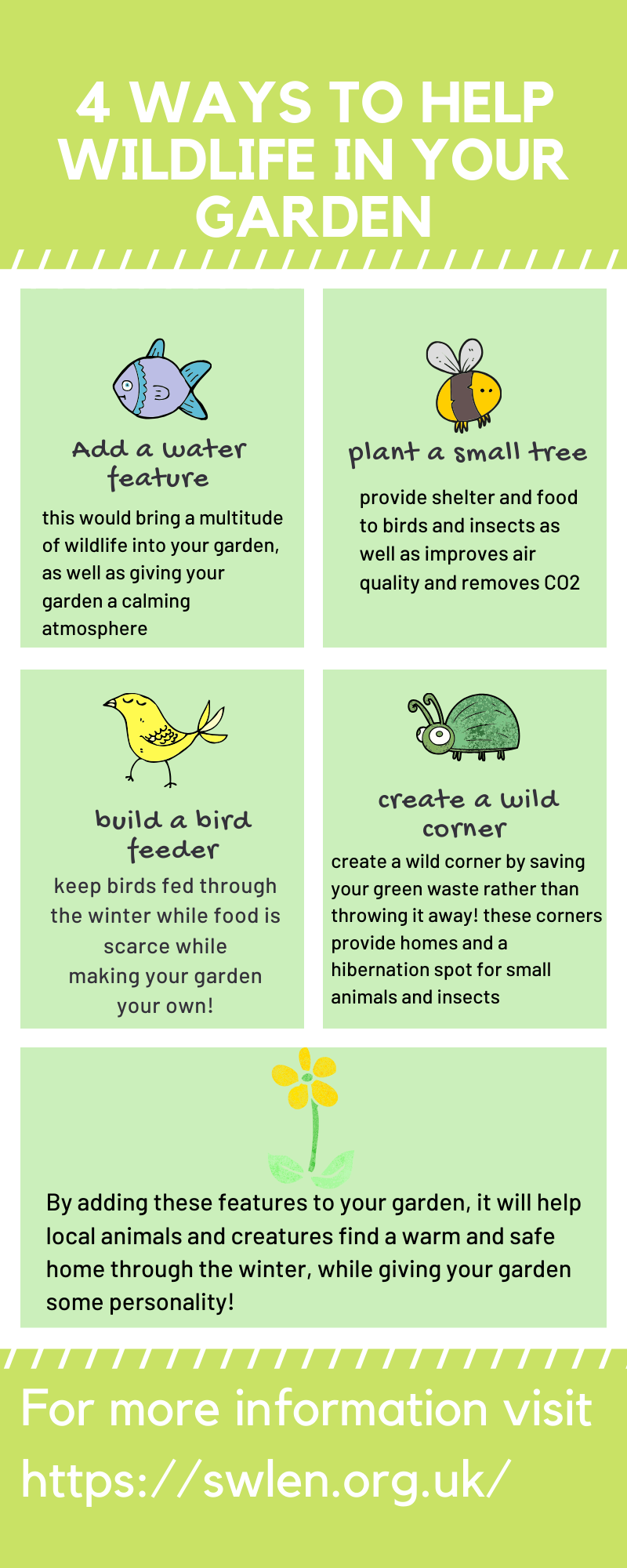 Here Are Just A Few Tips And Ways To Help Wildlife Grow And