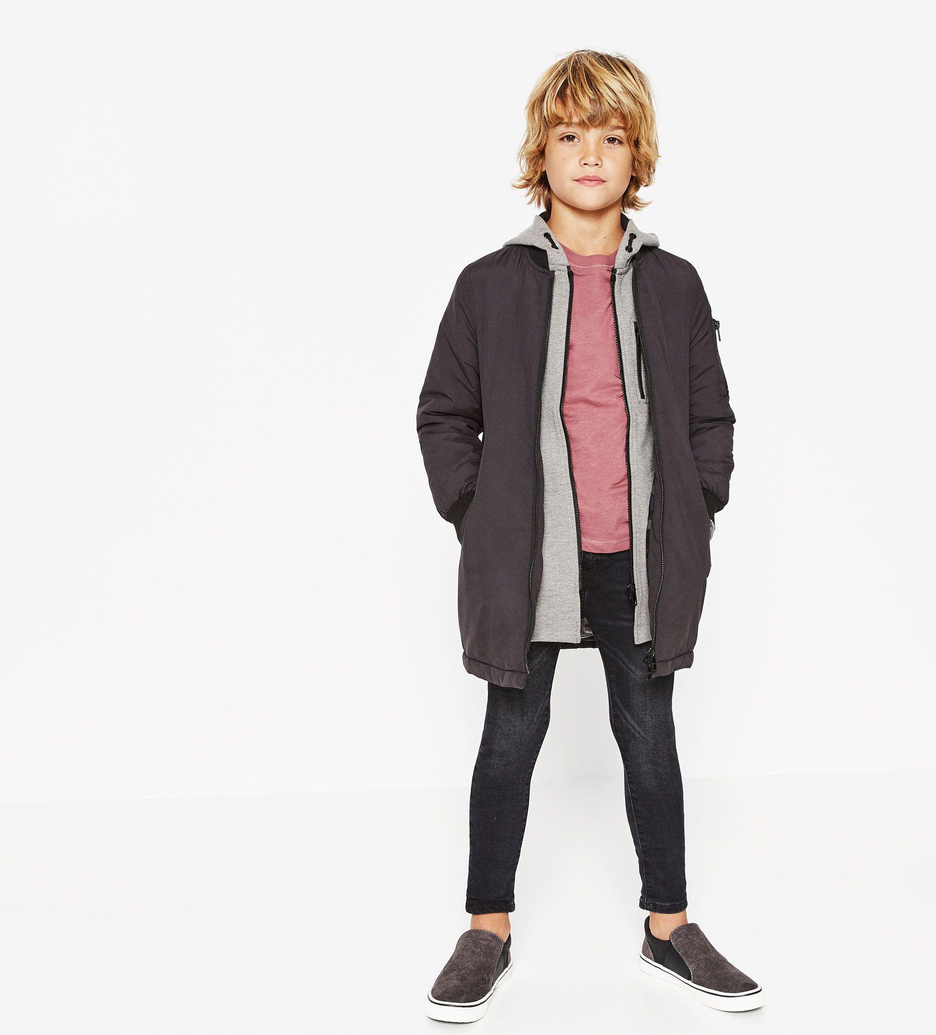 Kjop Etter Stil Gutt Barn Zara Norge Long Bomber Jacket Kids Fashion Photography Kids Fashion Boy [ 2122 x 1920 Pixel ]