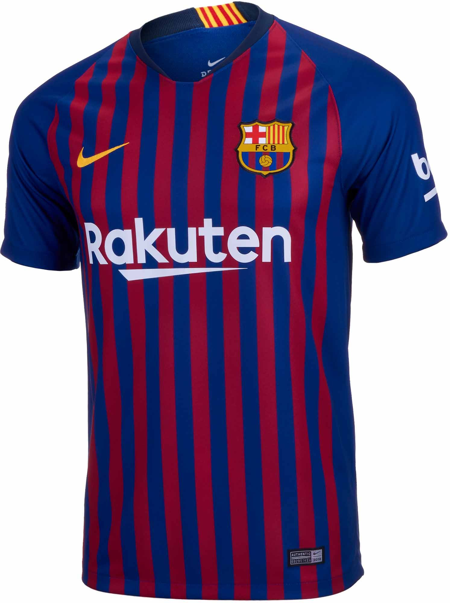 Buy this 2018 19 Kids FC Barcelona Home Jersey from www.soccerpro.com 0dbc791809e88