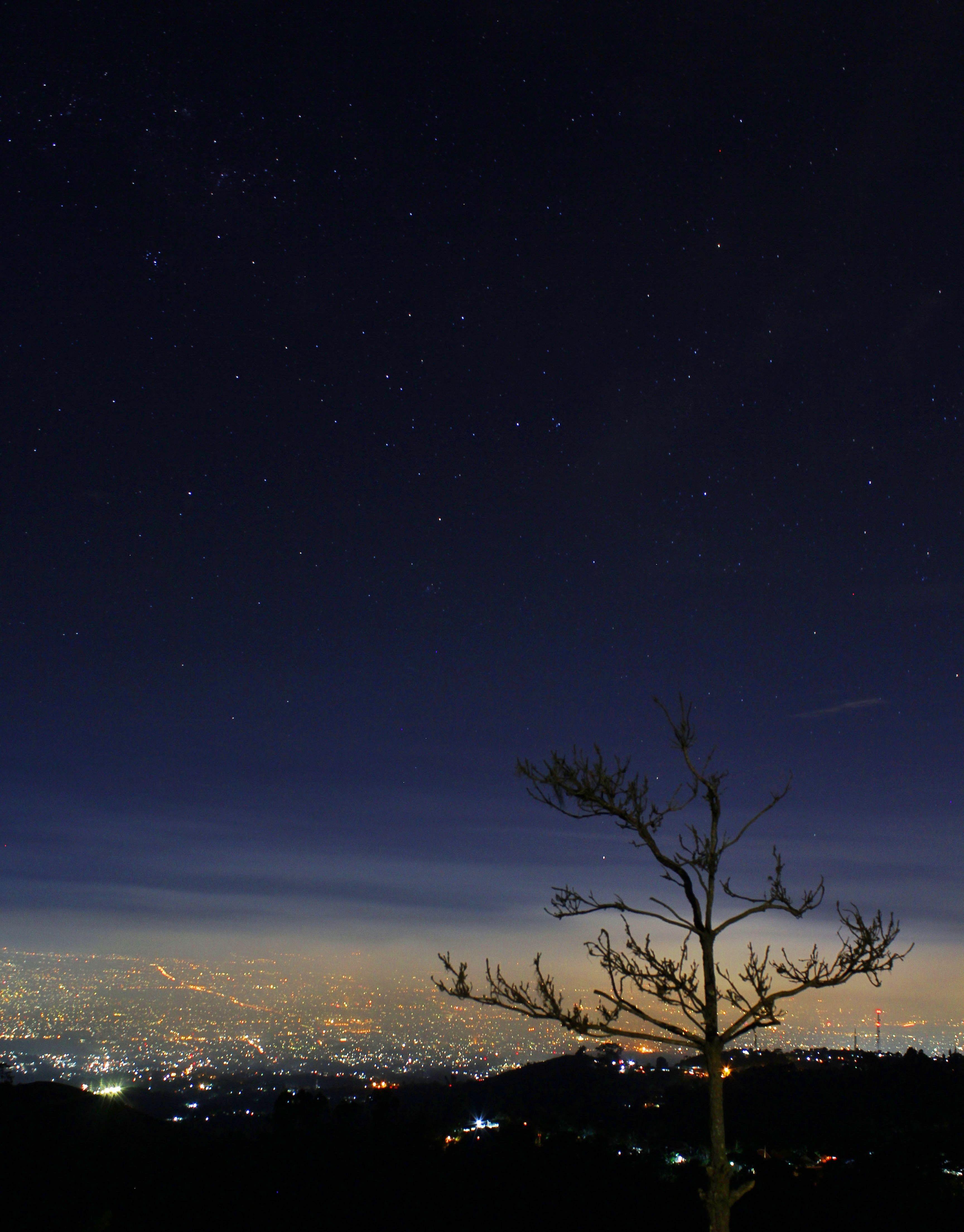 Bandung Night View Taken From Bukit Moko Bandung West Java Indonesia Pemandangan Latar Belakang Foto Alam