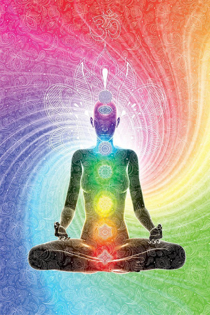The Seven Chakras Poster Meditation 61cm X 91 5cm Amazon De