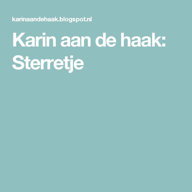 Karin aan de haak: Sterretje