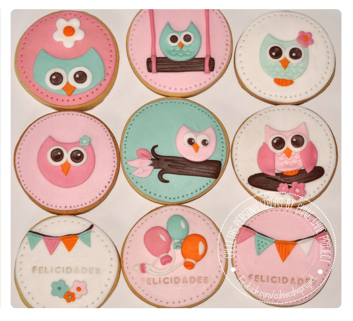 Owl Decorated Cookies Galletas Decoradas De Bhos Owl Cookies Cukie Biscuits