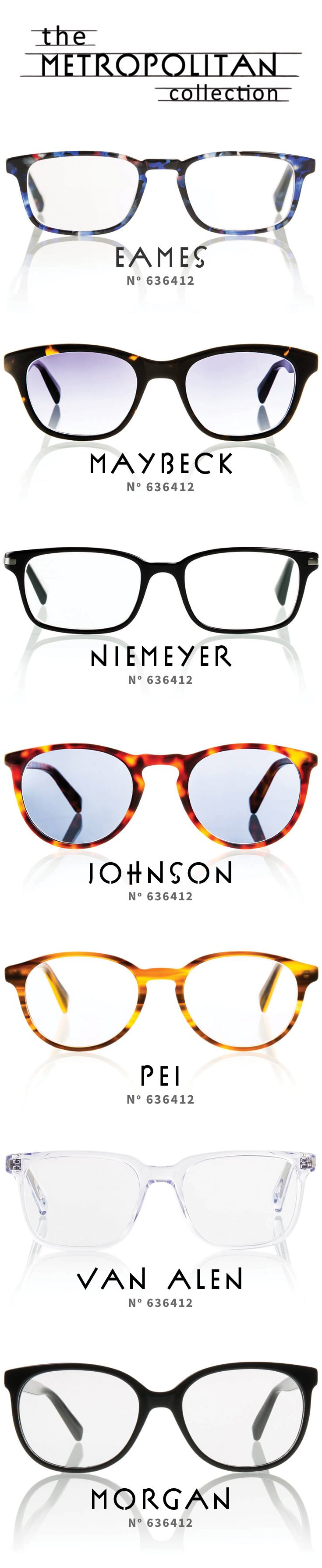 The Metropolitan Collection from Zenni® features classic eyewear ...