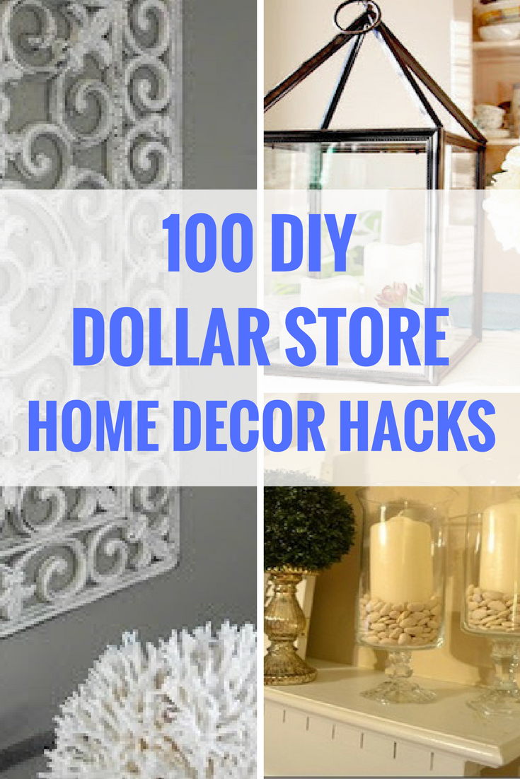 100 dollar store diy home decor ideas rackets budget for Room decor hacks