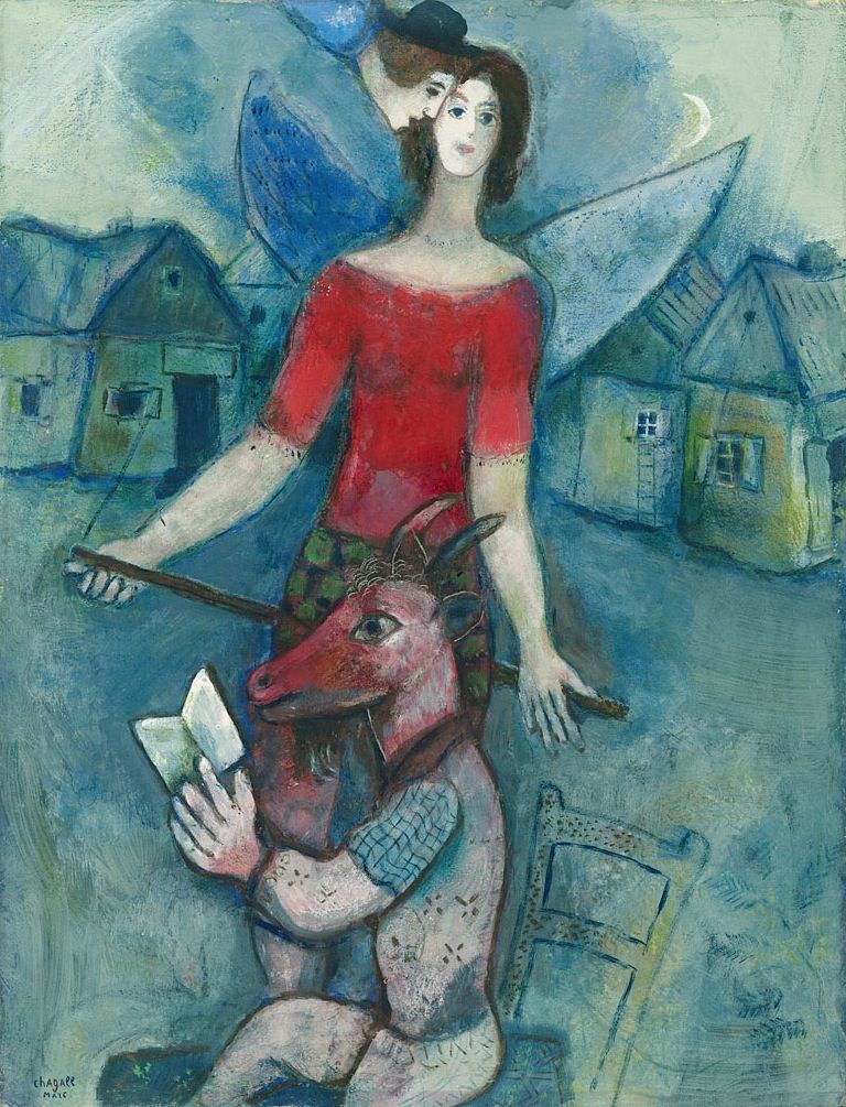 Marc Chagall, The Angel and the Reader (L'ange et le reader), c. 1930.