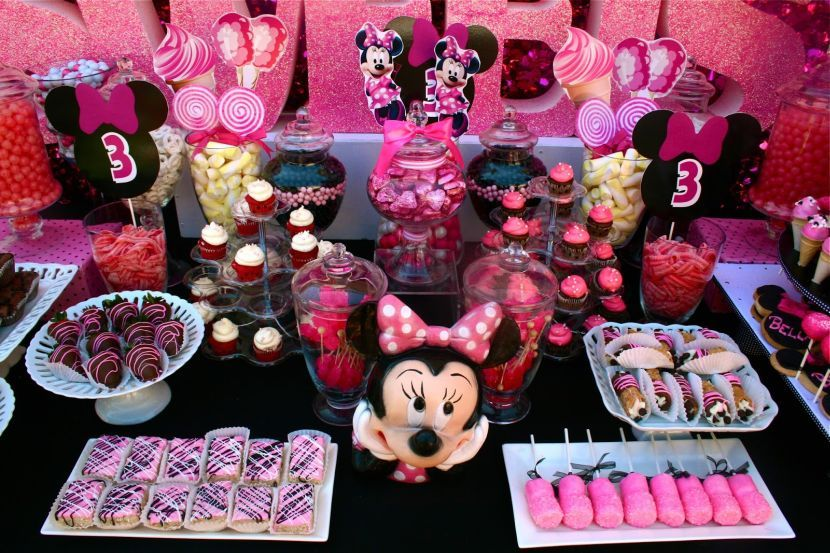 33 Minnie Mouse Themed Candy Buffet Ideas Minnie Mouse Candy Bar Minnie Mouse Birthday Party Decorations Minnie Mouse Decorations