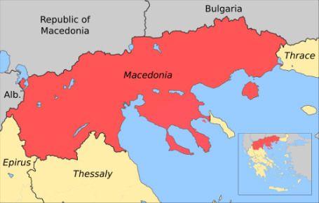 Greek Macedonia Map Macedonia Pinterest Macedonia Greece And