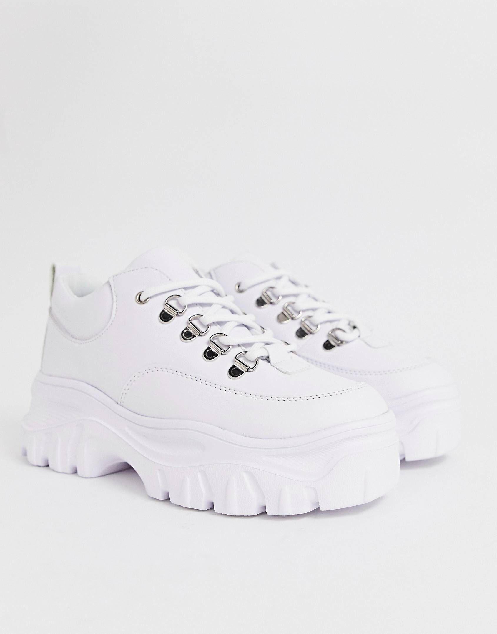 b54fb9ec2b Public Desire Biggie white chunky trainers in 2019