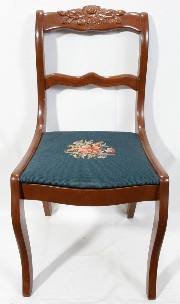 Duncan Phyfe Furniture Style Rose Back Chair Carved Chairs Dining Chairs For Sale Duncan Phyfe Chairs