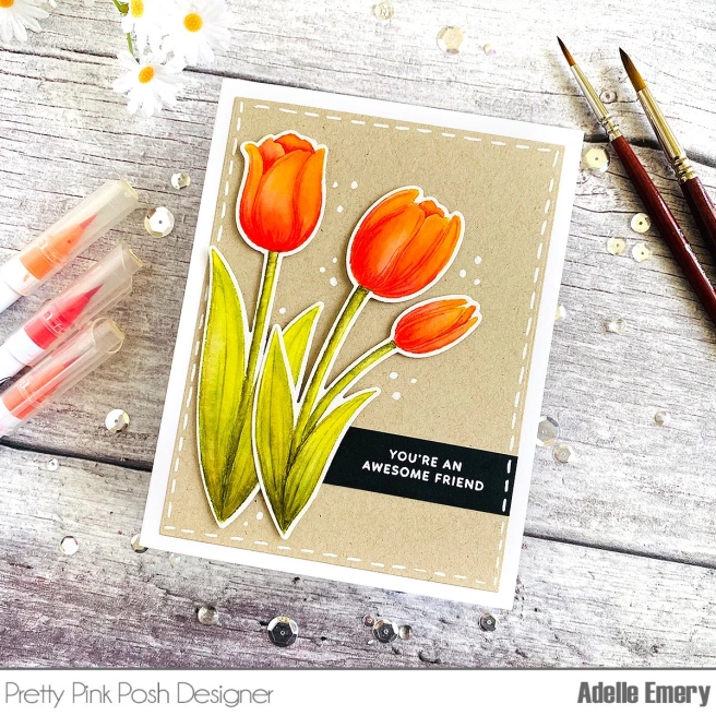 View all photos Hero Arts Bright Tulips Rubber Stamp Used