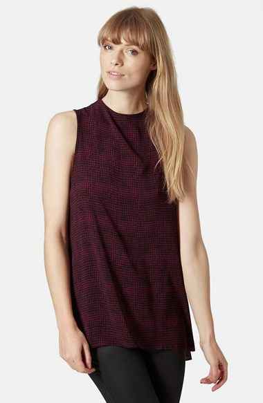 Topshop High Neck Check Tunic available at #Nordstrom