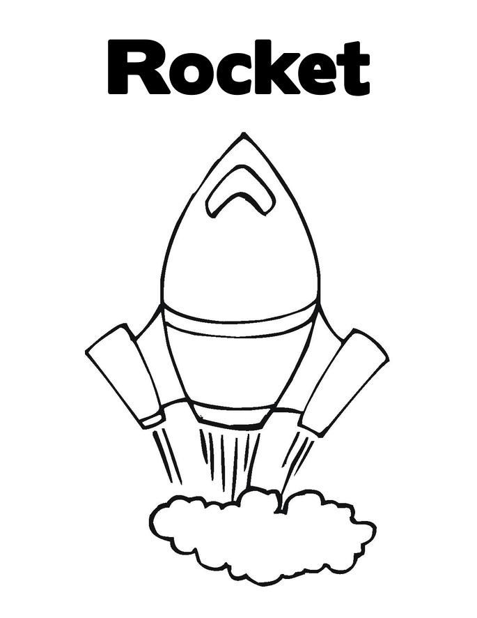 rocket coloring page | Printable | Pinterest