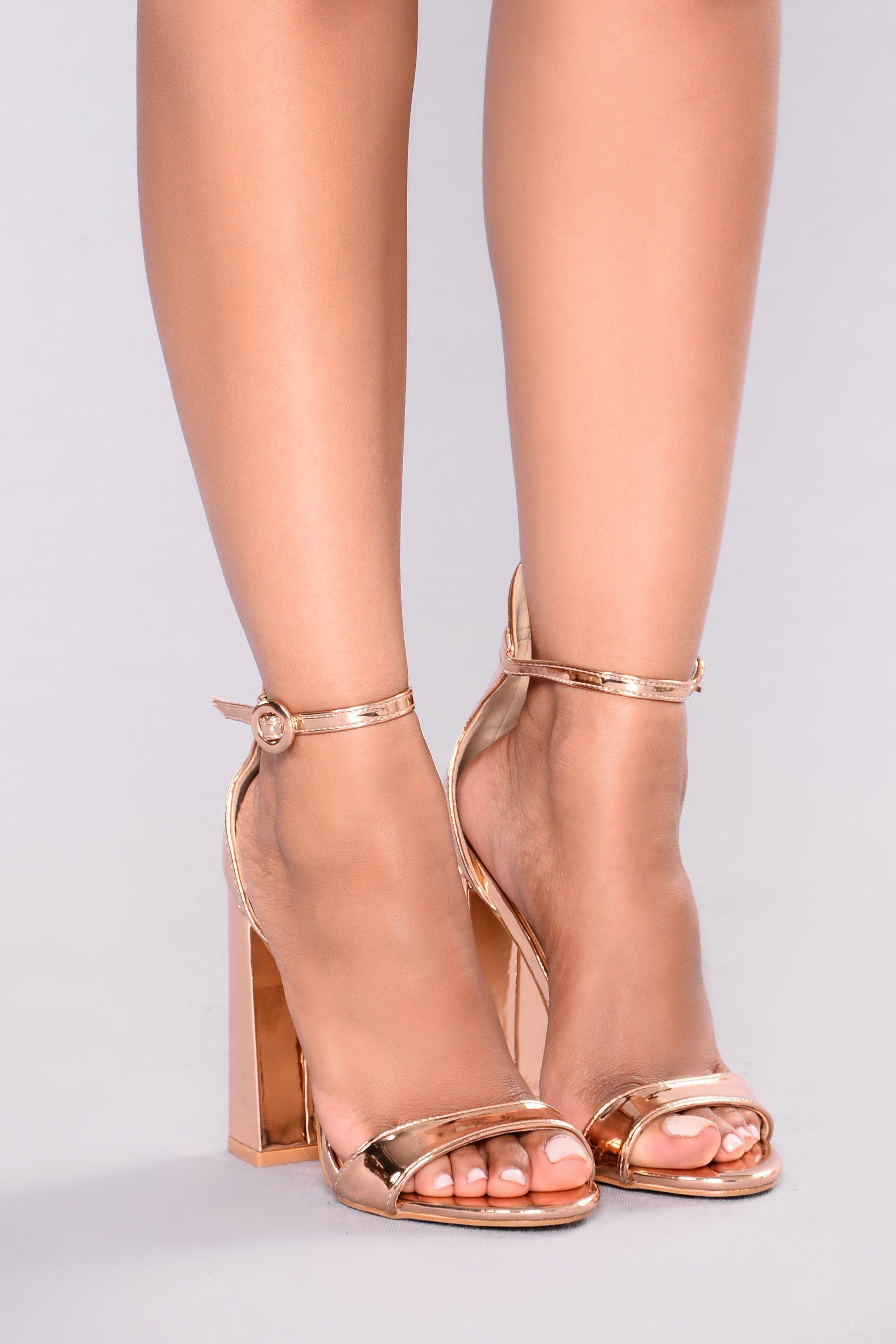 c7f022c1354 Violet Block Heel - Rose Gold  Promheels Rose Gold Sandal Heels