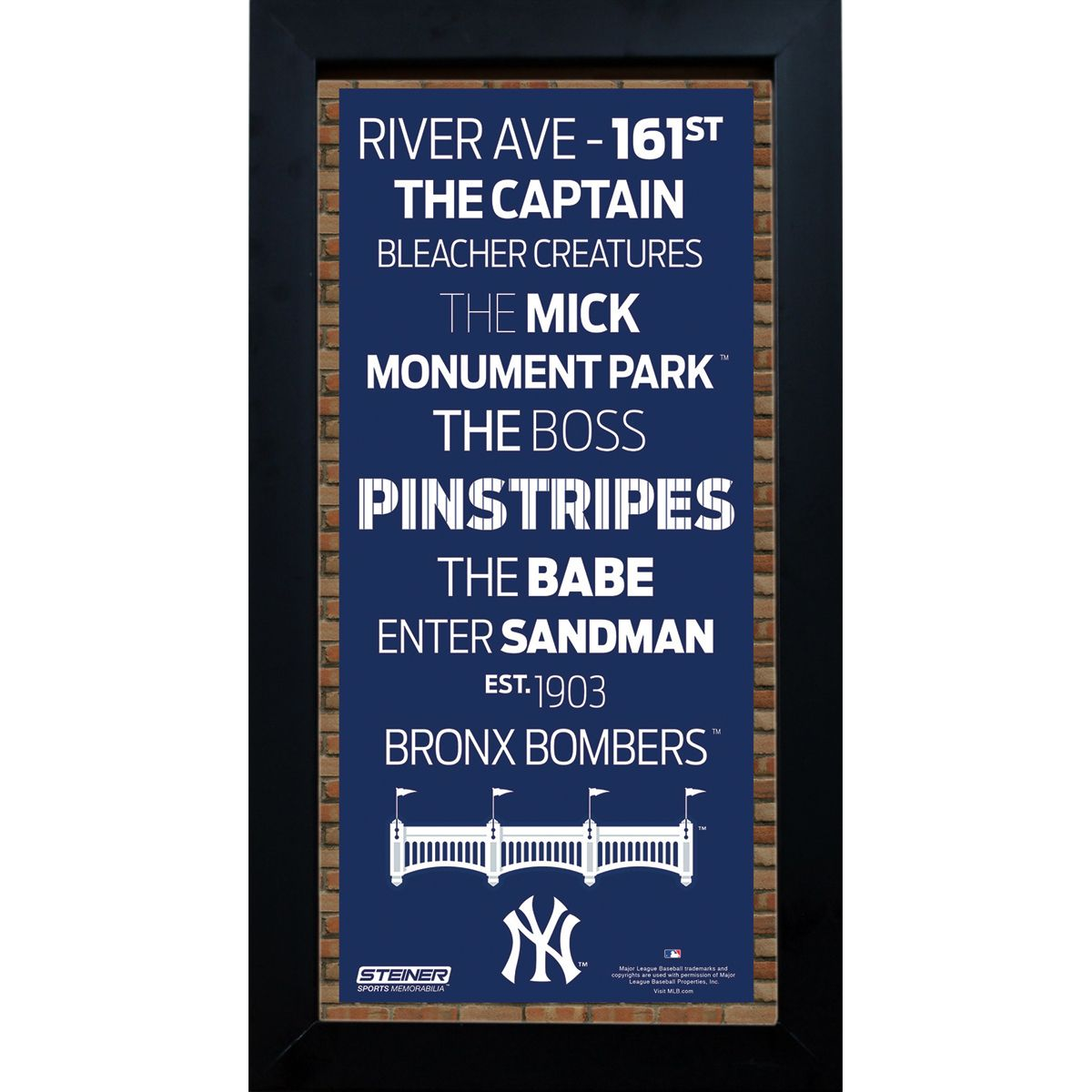 FRAMED 6X12 NEW YORK YANKEES SUBWAY SIGN - Purchase here: http://stnr.co/1UP33XI