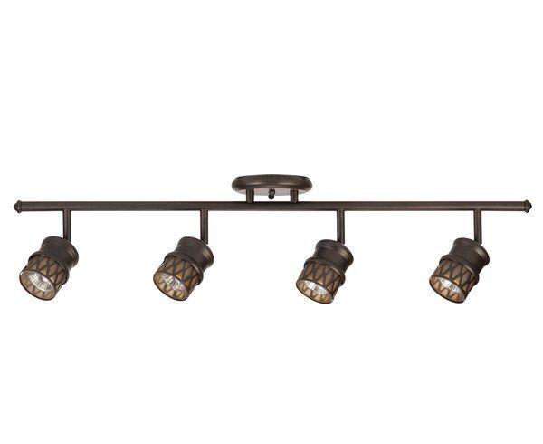 4 light adjustable track kit track lighting fixtures bronze 4 light adjustable track kit track lighting fixtures bronze finish and oil rubbed bronze aloadofball Image collections